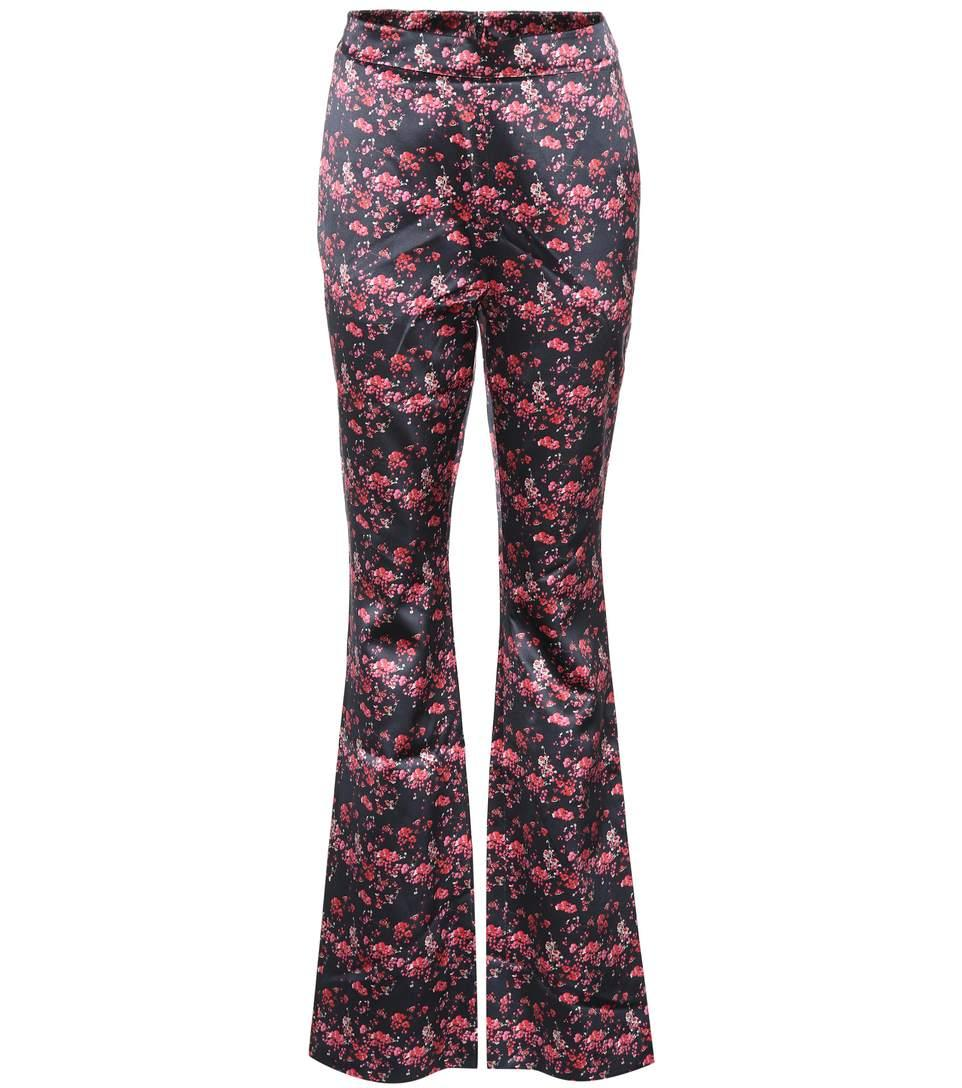 Huishan Zhang Ivy Silk Satin Trousers In Multicoloured
