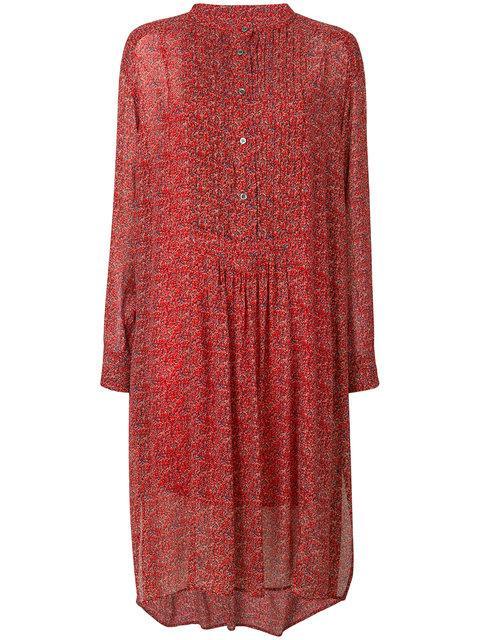 Etoile Isabel Marant Jraya Printed Dress In Red