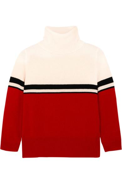 Madeleine Thompson Amy Color-block Cashmere Turtleneck Sweater