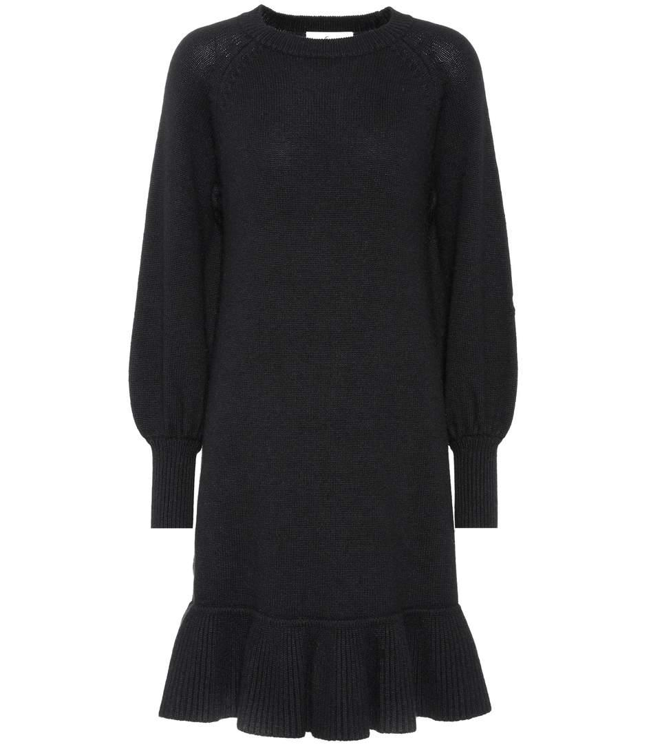 Co Knitted Wool And Cashmere Dress In Llack