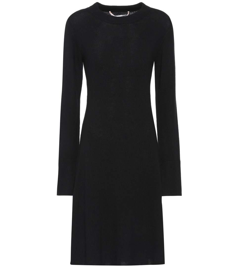 81 Hours Hester Wool And Cashmere Dress In Llack
