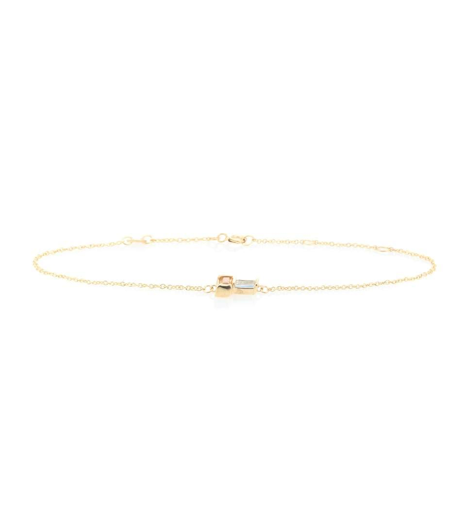 Aliita 9kt Gold Bracelet With Citrine And Aquamarine