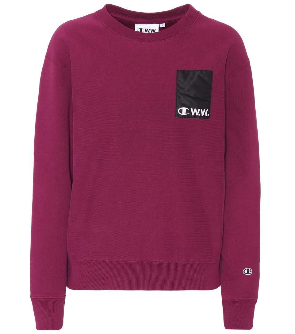 Champion Cotton-blend Sweatshirt In Lilac