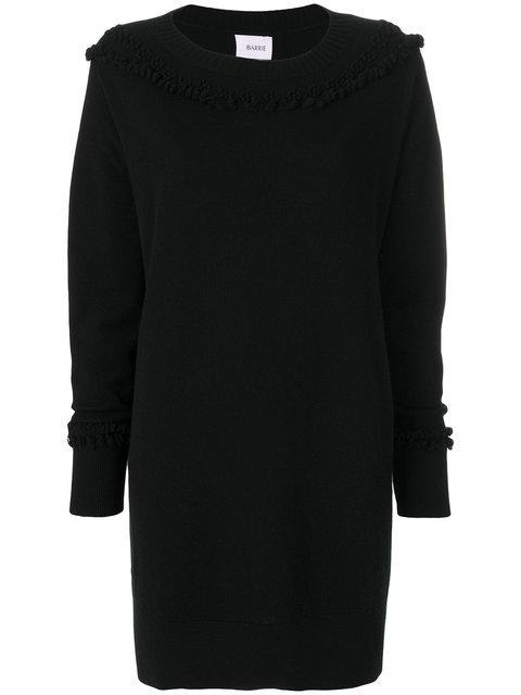 Barrie Textured Detail Knit Dress In Blacknero