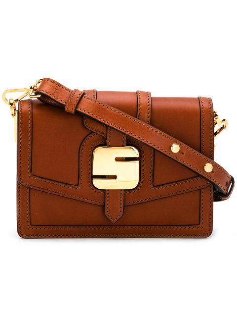 Serapian Logo Buckled Bag