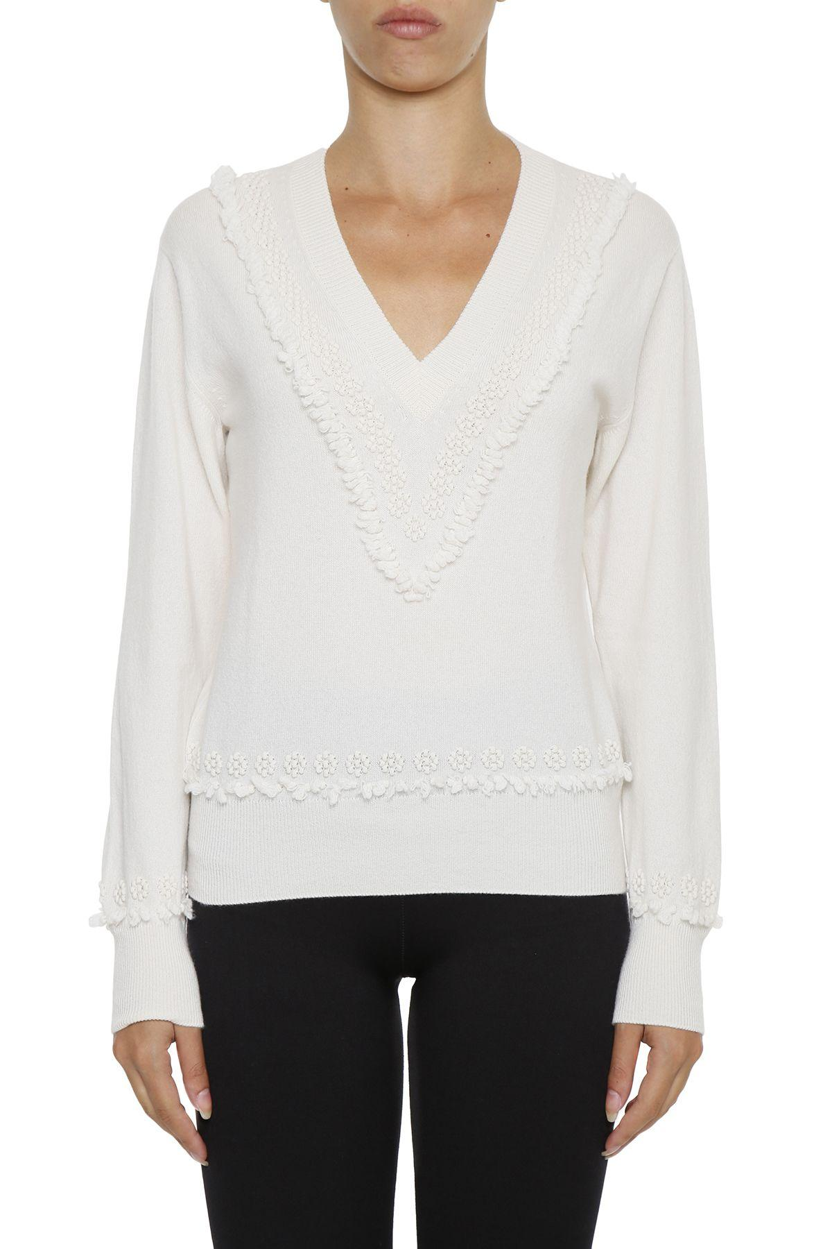 Barrie Cashmere Pullover In Offwhitebianco