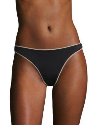 Elle Macpherson Body Double Skin Thong In Jet Black