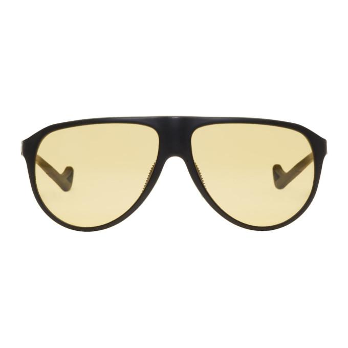 District Vision Black And Yellow Yukari Sunglasses In District Sp