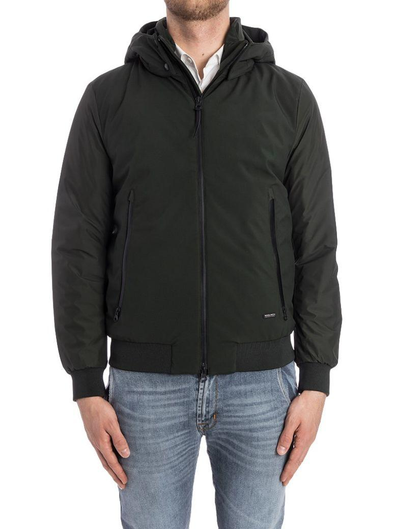 Woolrich Hooded Bomber In Green