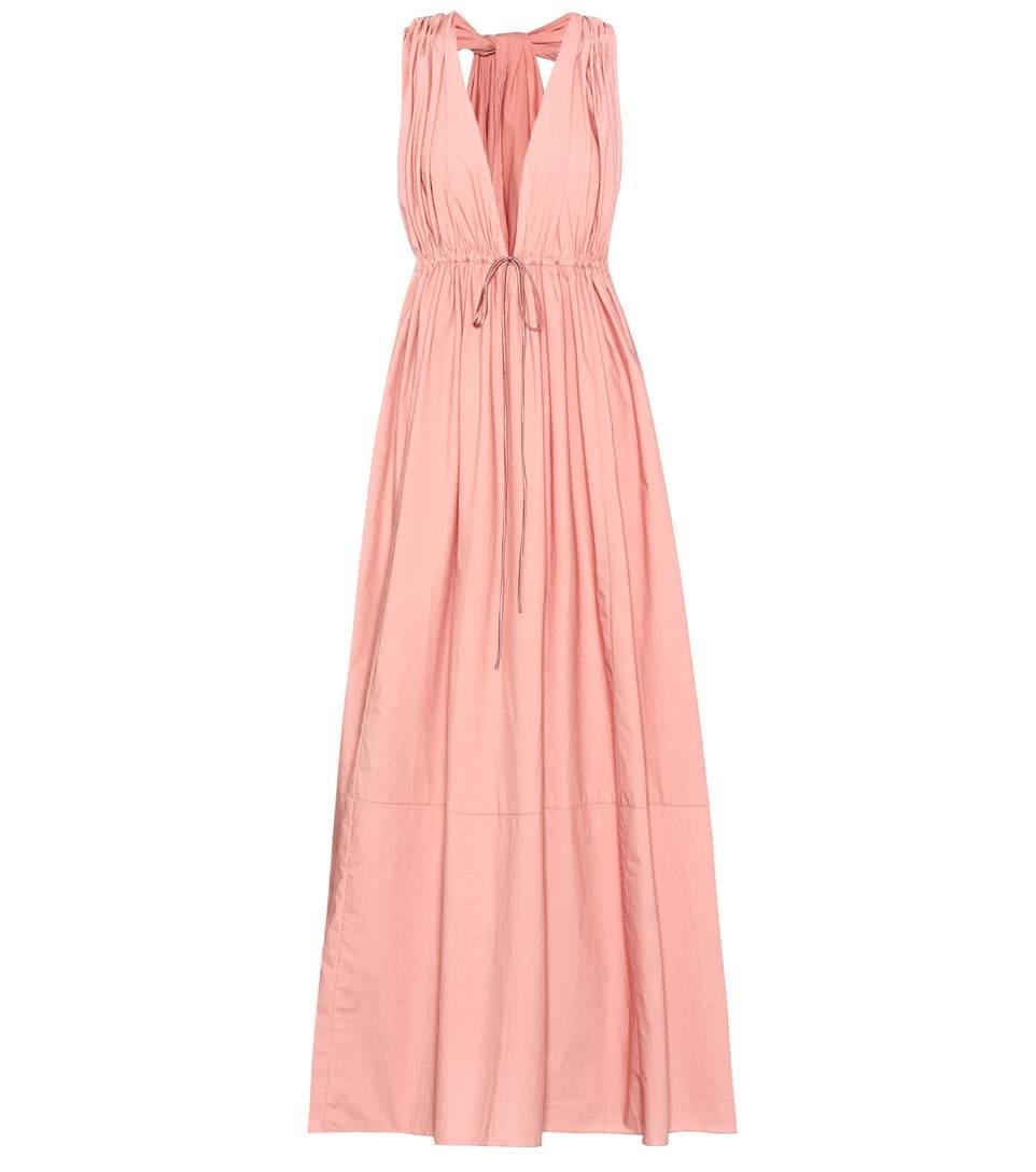 Three Graces London Sleeveless Cotton Dress In Pink