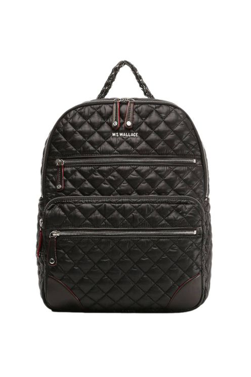 Mz Wallace Small Crosby Quilted Backpack In Black