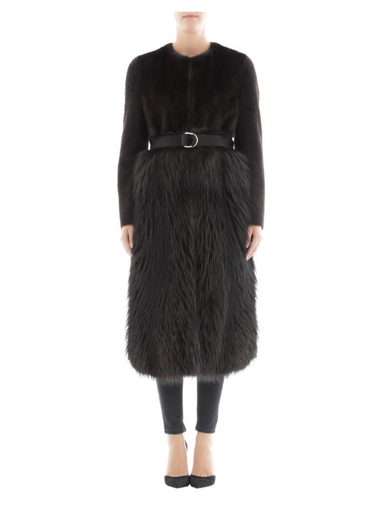 Blancha Dark Brown Wool Coat