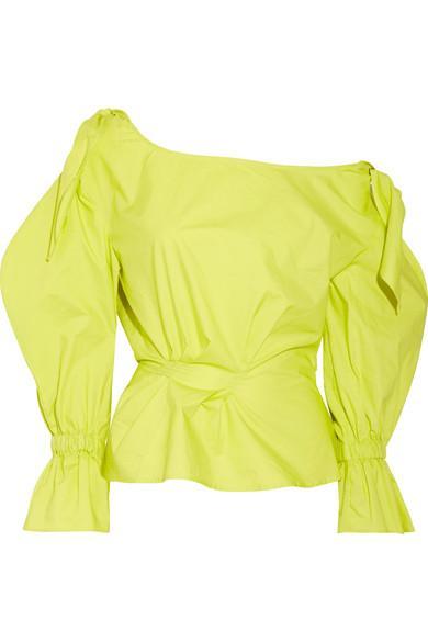 Rejina Pyo Michelle Off-the-shoulder Cotton-poplin Blouse