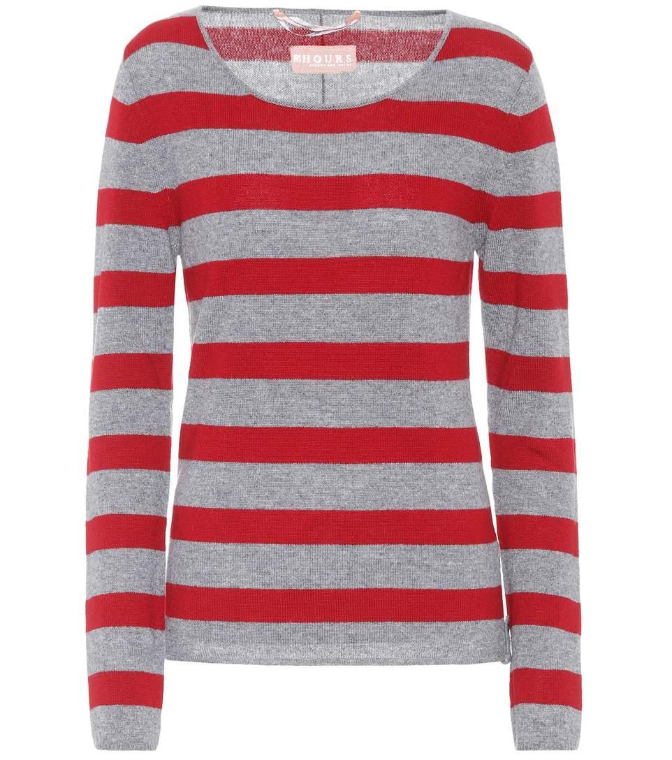 81 Hours Carnabi Striped Cashmere Sweater In Comlo