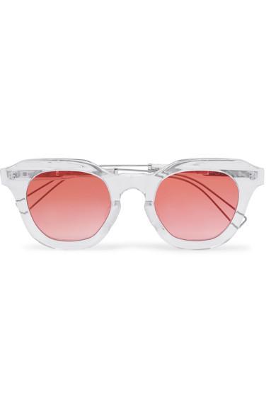 Rejina Pyo + Projekt Produkt Cat-eye Acetate Sunglasses In White