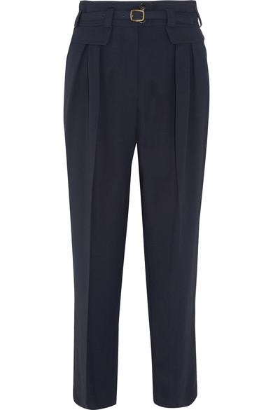 A.p.c. Isa Belted Twill Straight-leg Pants