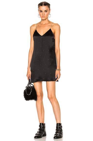 Amiri V Neck Slip Studded Dress In Black
