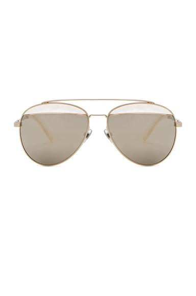 Oliver Peoples X Alain Mikli Aviator Sunglasses In Gold & Taupe Mirror