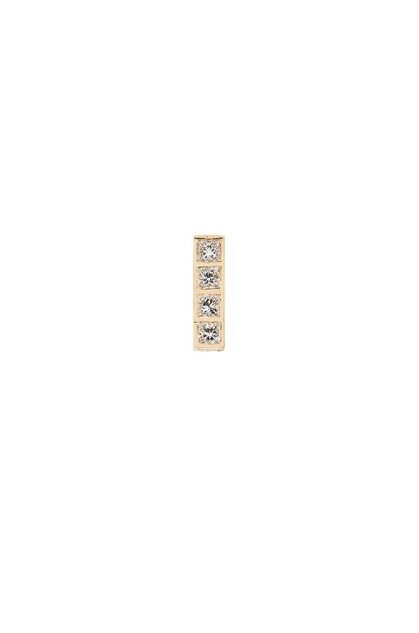 Ileana Makri Diamond & Yellow-gold Single Earring In Metallics