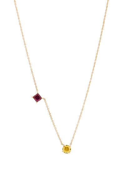 Ileana Makri Round & Square Necklace In Metallics