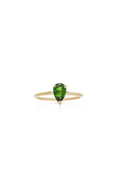 Ileana Makri Single Stone Ring In Metallics