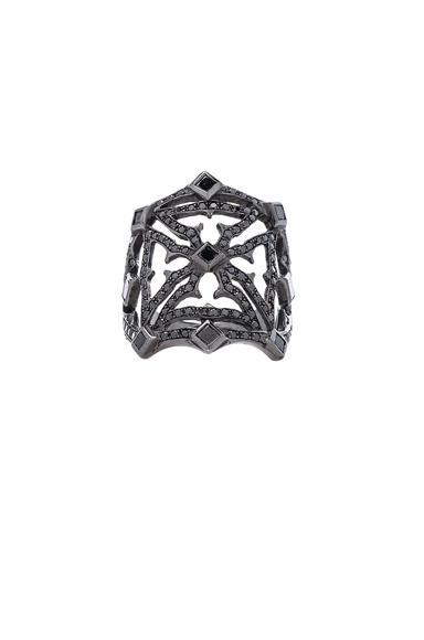 Loree Rodkin Queens Maltese Open Cross Ring In Metallics