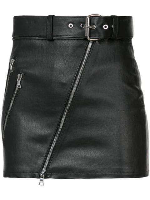 Amiri Moto Skirt In Black