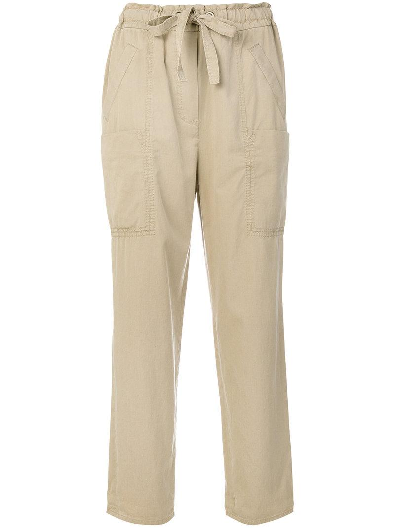 Dorothee Schumacher Drawstring Waistband Cropped Trousers - Neutrals