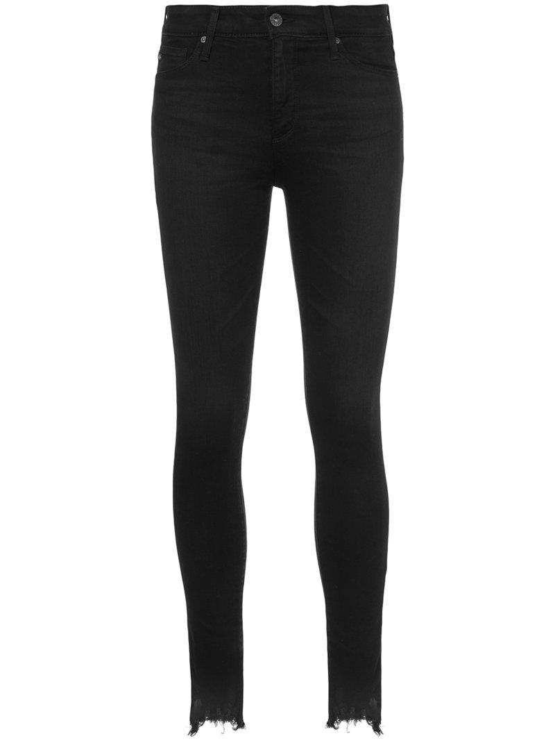 Ag Jeans High-rise Skinny Jeans - Black