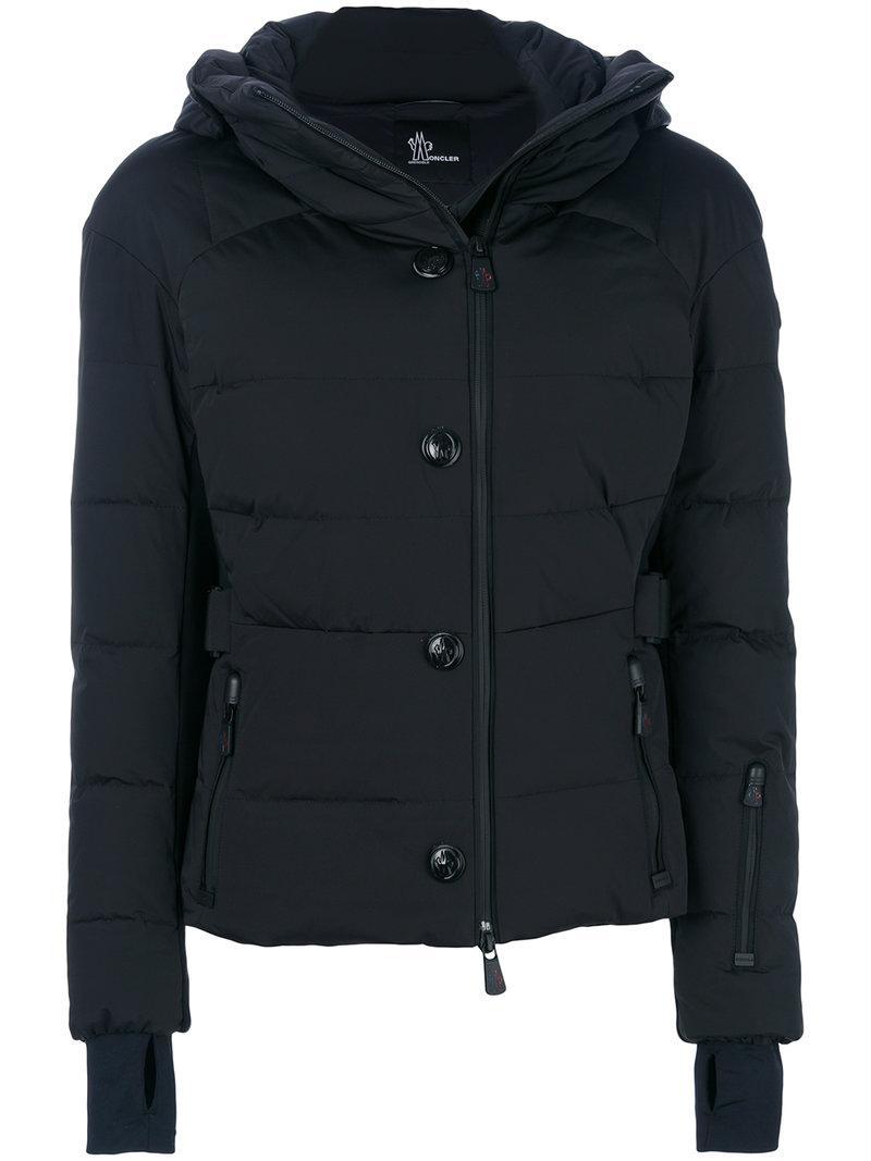 Moncler Grenoble Fitted Puffer Jacket - Black