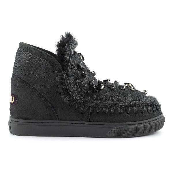 Mou Mini Eskimo Sneaker With Rhinestones In Cbkg