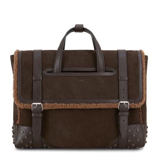 Tod's Envelope Bag In Suede In Brown
