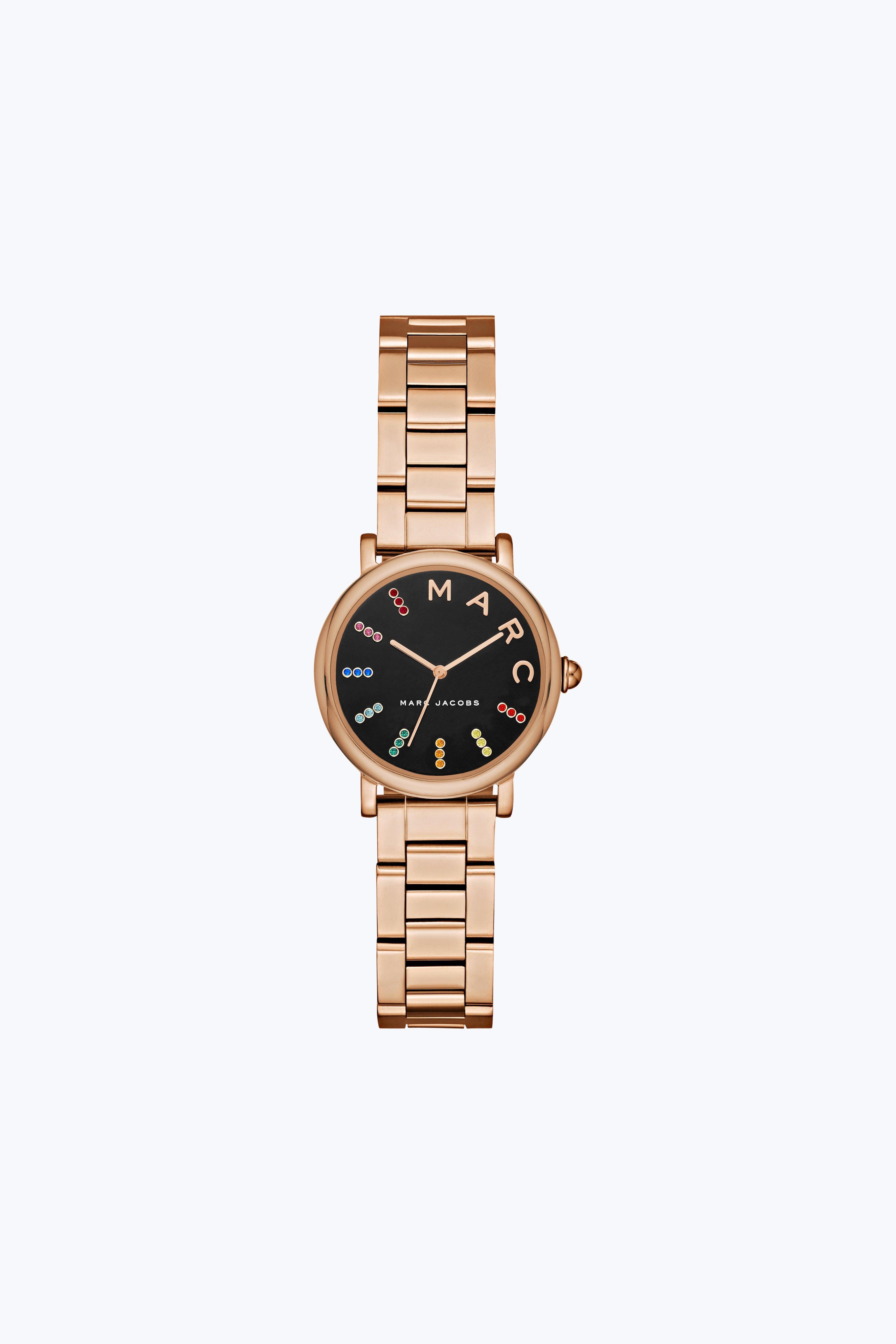 Marc Jacobs Roxy Crystal Bracelet Watch, 28mm In Gold/black