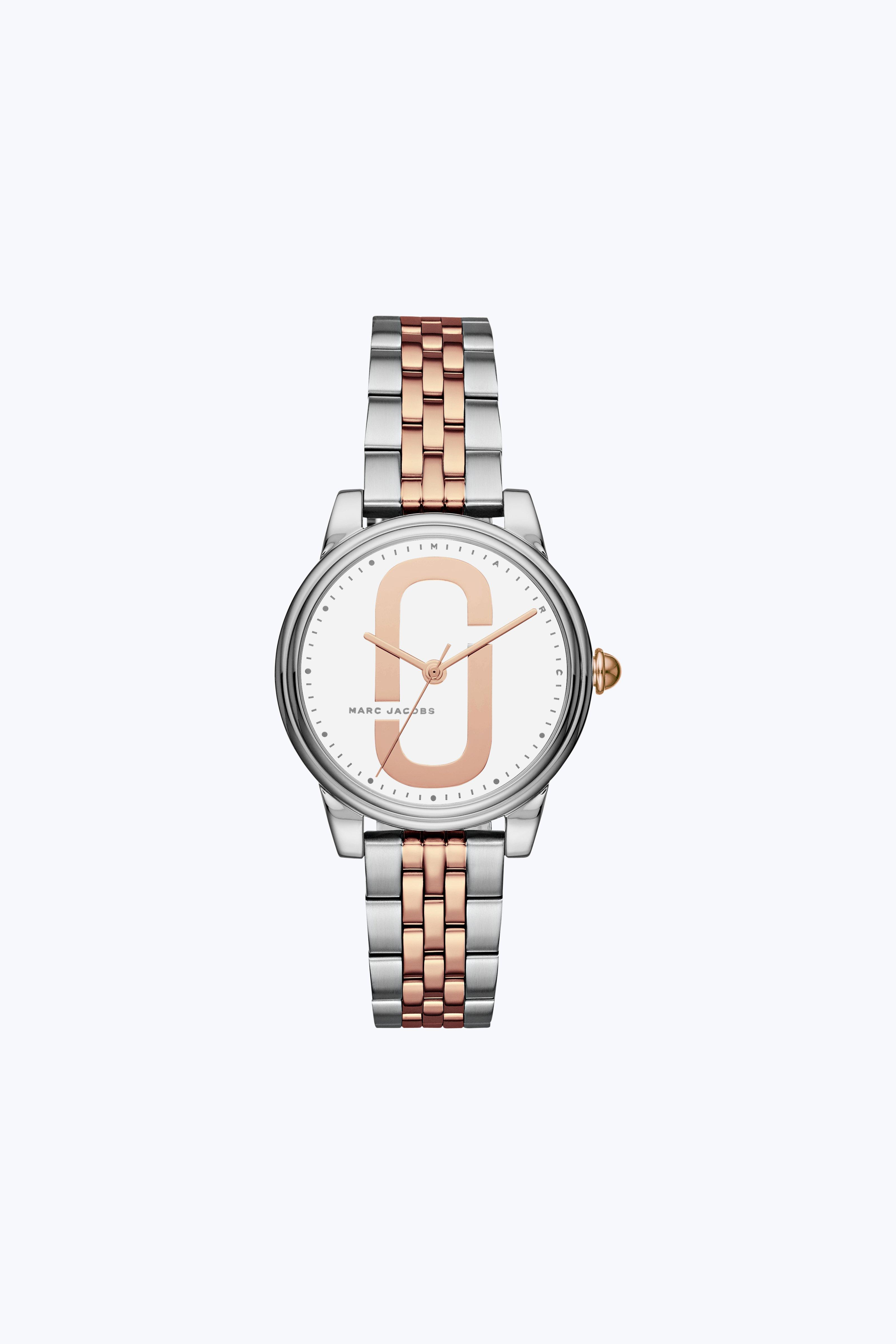 Marc Jacobs Corie Bracelet Watch, 36mm In Stainless/white