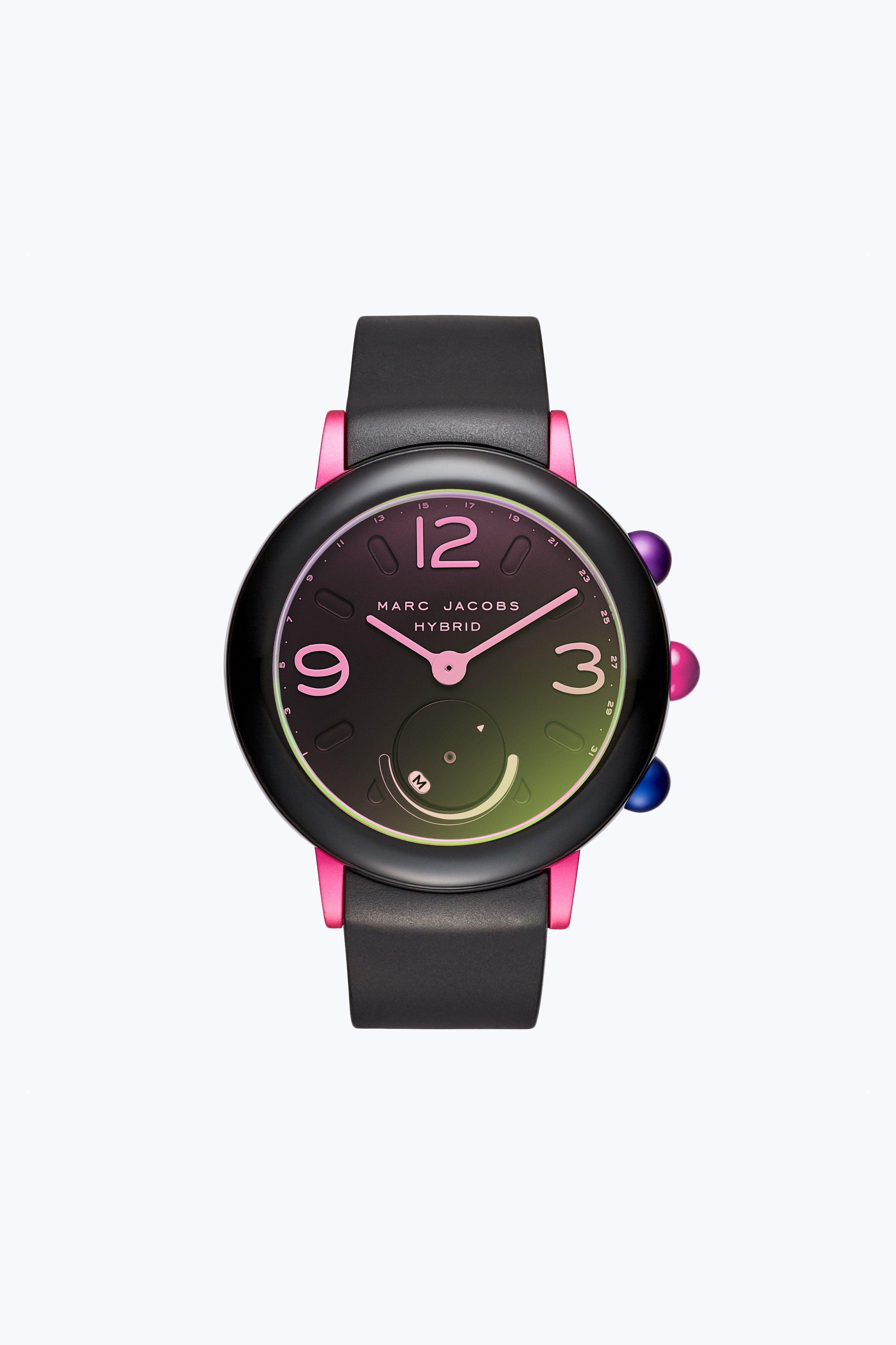 Marc Jacobs Riley Hybrid Smartwatch In Black/multi