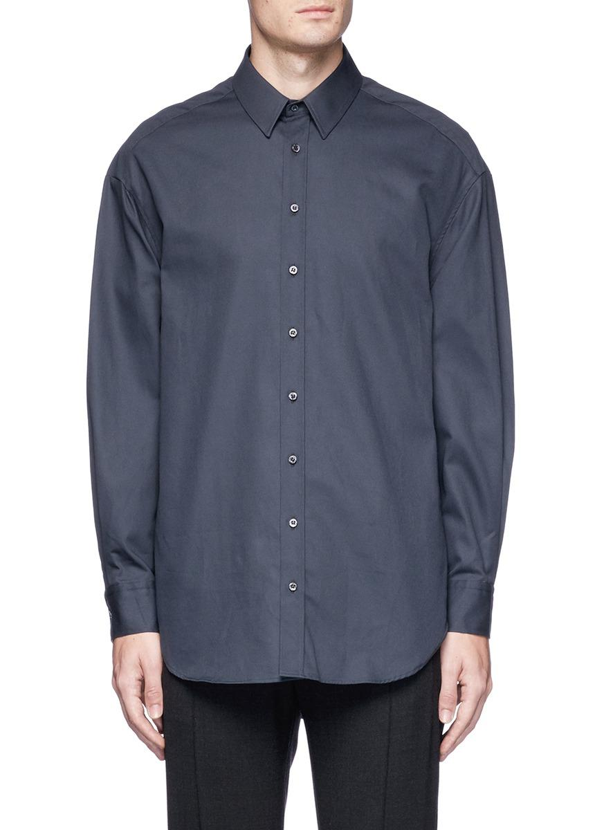 Neil Barrett Oversized Cotton Twill Shirt