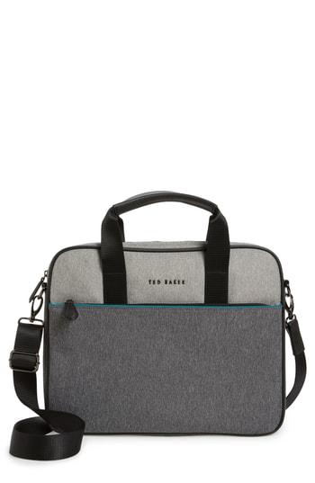 Ted Baker Maka Core Nylon Document Bag In Grey