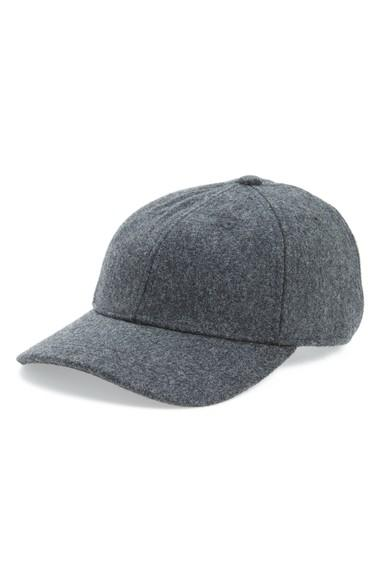 Madewell Wool Blend Baseball Hat - Grey In Heather Blackbird