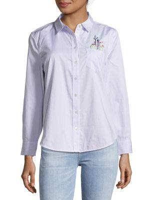 Equipment Cotton Casual Button-down Shirt In Light Blue