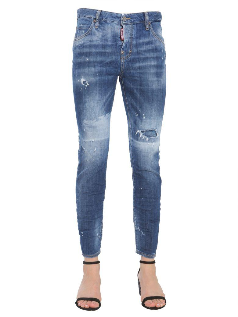 Dsquared2 Cool Girl Fit Jeans In Blu