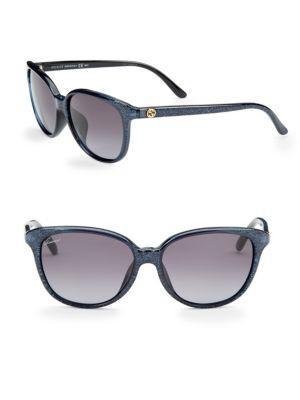 Gucci Multicolored 57mm Square Sunglasses