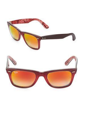 Ray Ban 50mm Wayfarer Sunglasses In Pink
