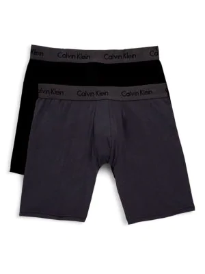 Calvin Klein Basic Boxer Shorts Set In Abc Black