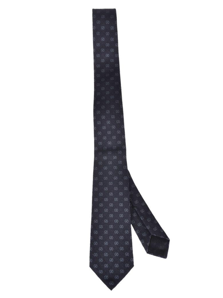 Gucci Gg Pattern Tie In Blu Azzurro