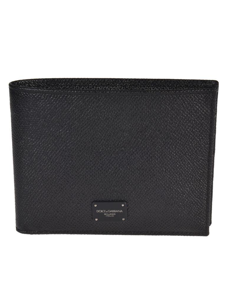 Dolce & Gabbana Dolce E Gabbana Men's  Black Leather Wallet In Nero