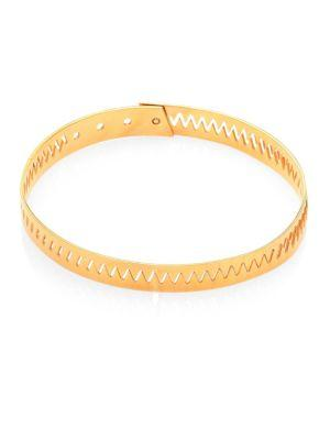 Annelise Michelson Carnivore Tiny Choker In Gold