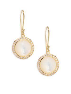 Ippolita Lollipop® Mini Diamond & Mother-of-pearl Lollitini Earrings In Yellow Gold