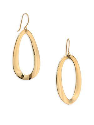 Ippolita Classico 18k Yellow Gold Smooth Cherish Link Drop Earrings