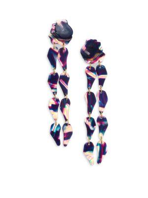 Lele Sadoughi Confetti Wisteria Drop Earrings In Twilight