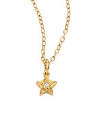Ileana Makri Mini Star Pendant Necklace In Gold